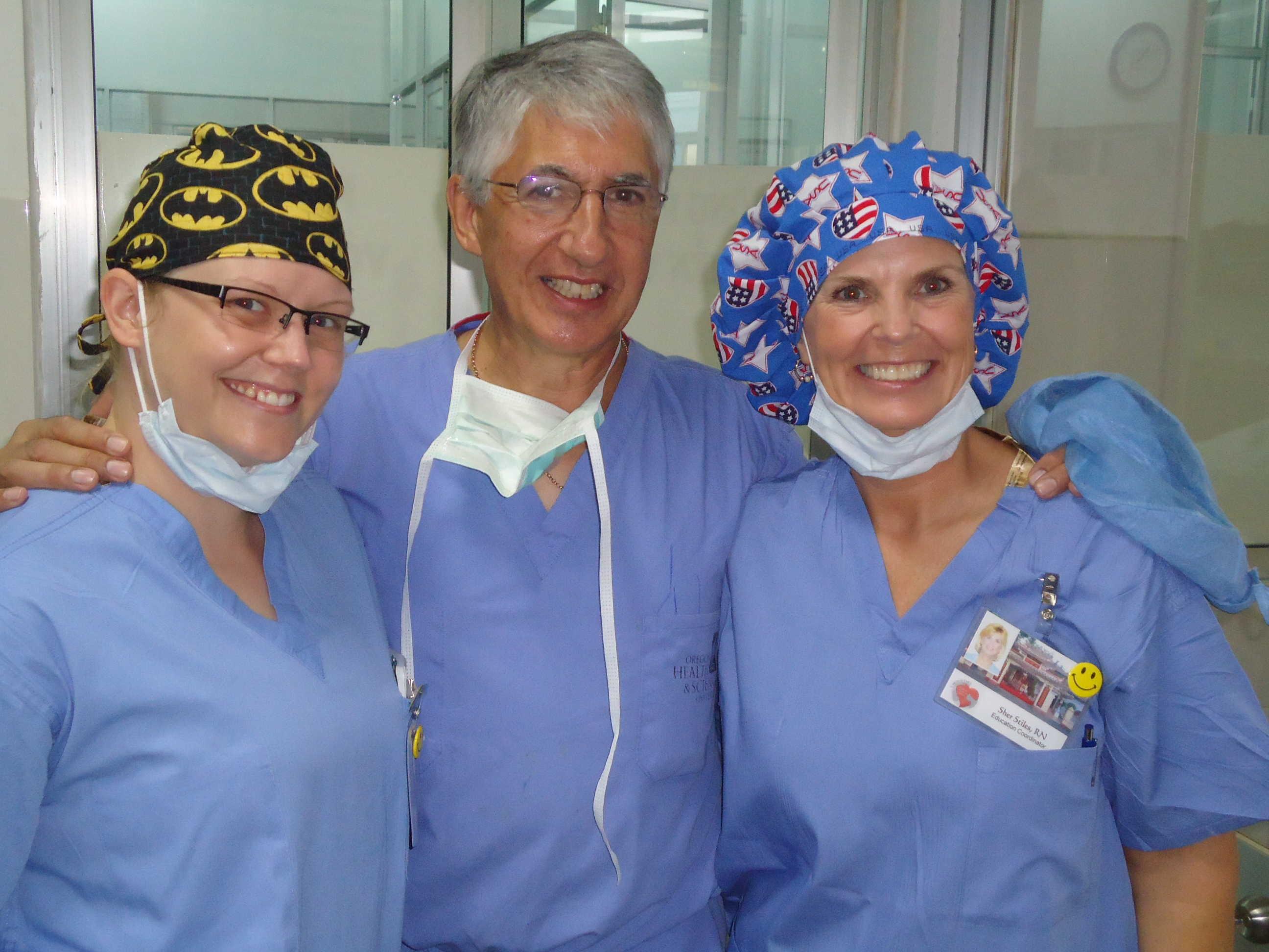 Kristie & Sher Stiles with Dr. Aubyn Marath