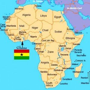 kumasi ghana africa map